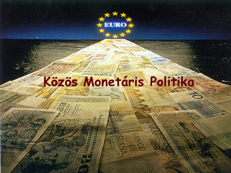 Gazdasági és Monetáris Unió  Nem csak az áruk, a szolgáltatások, a munkaerő és a tőke piacain nincsenek korlátozások,  hanem azonos gazdaság és pénzügypolitika is érvényesül.