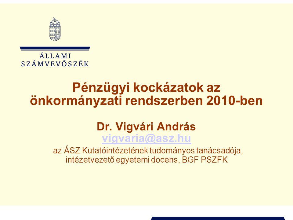 Pénzügyi kockázatok az önkormányzati rendszerben 2010-ben Dr.