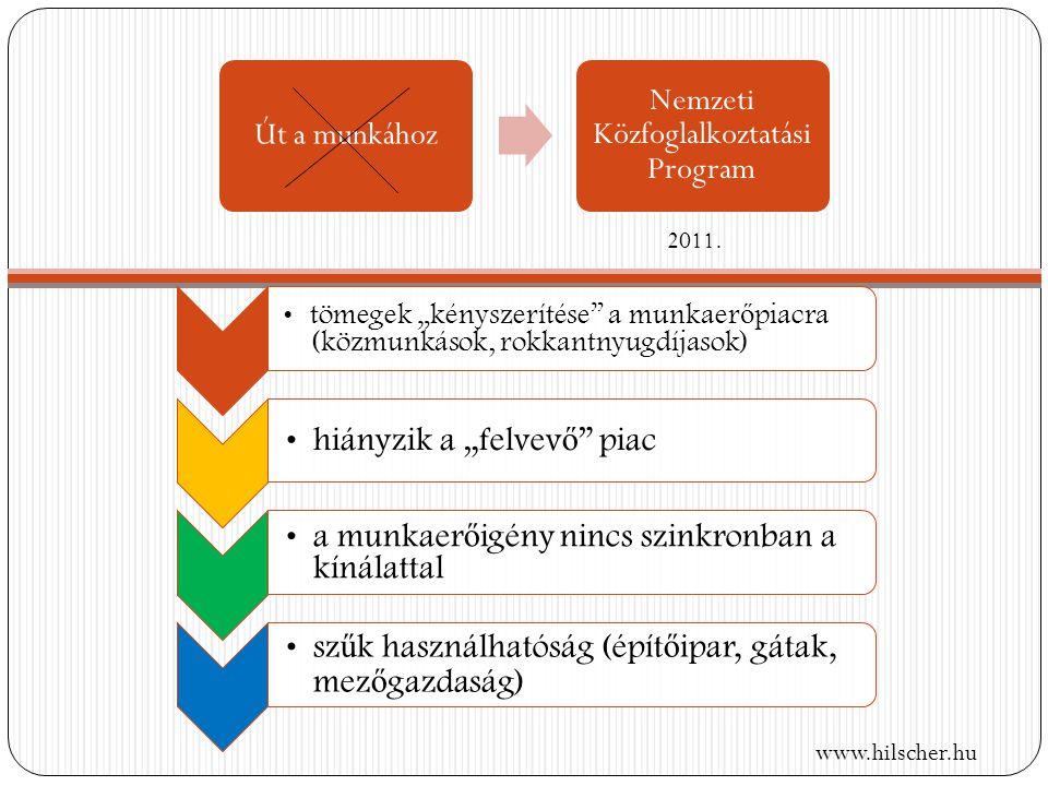 Út a munkához Nemzeti Közfoglalkoztatási Program 2011.