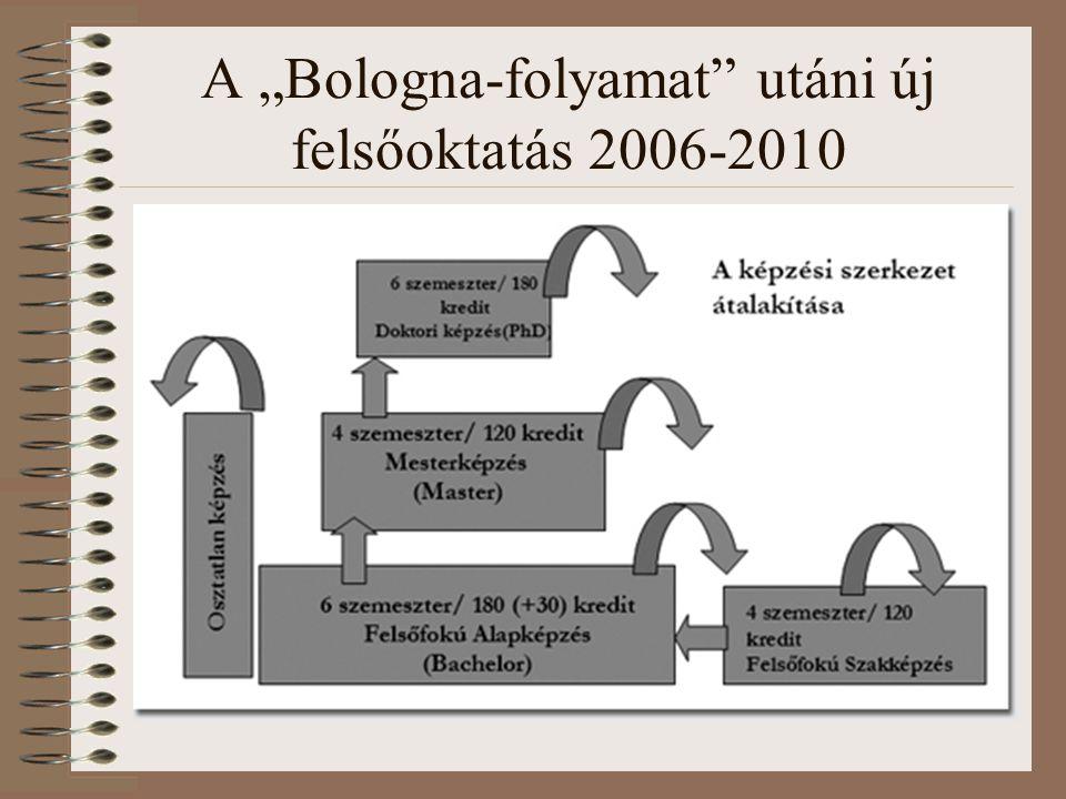 """A """"Bologna-folyamat utáni új felsőoktatás 2006-2010"""