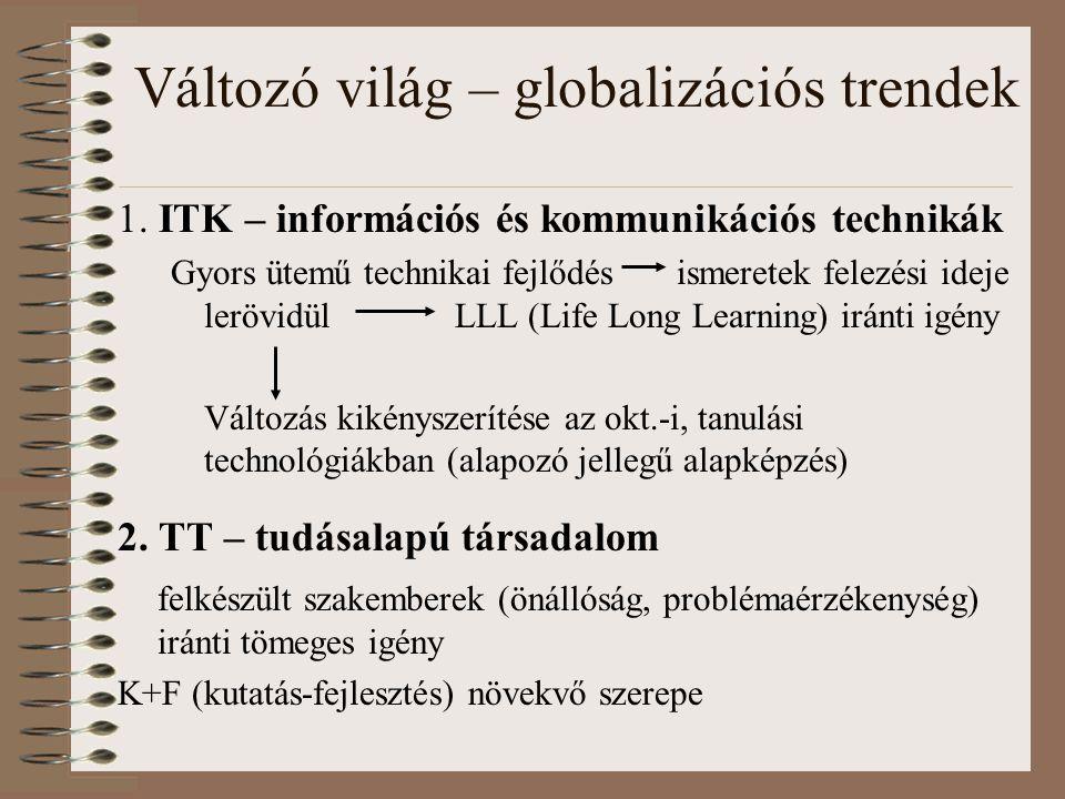 Változó világ – globalizációs trendek 1.