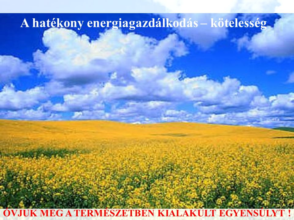 Fajlagos energiafelhasználás – 2.