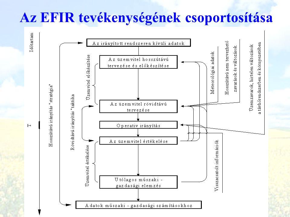 Az EFIR tevékenységének csoportosítása