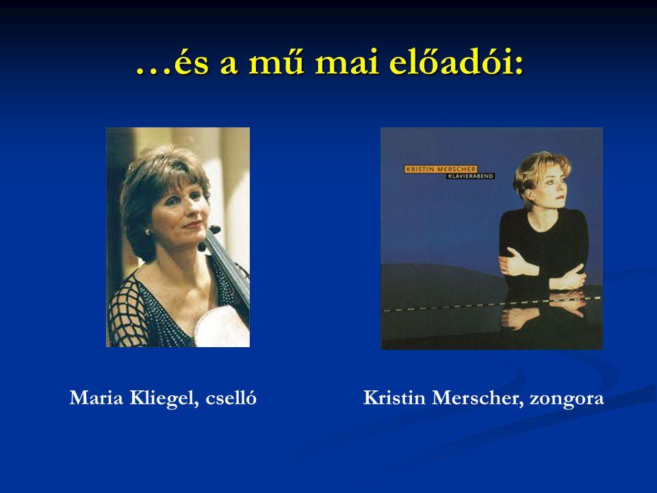 …és a mű mai előadói: Maria Kliegel, csellóKristin Merscher, zongora
