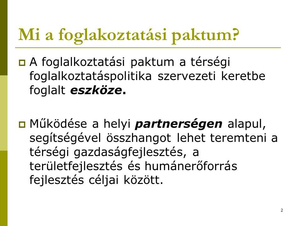 2 Mi a foglakoztatási paktum.