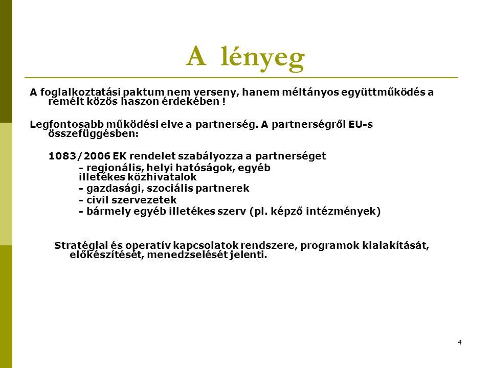 4 A lényeg A foglalkoztatási paktum nem verseny, hanem méltányos együttműködés a remélt közös haszon érdekében .