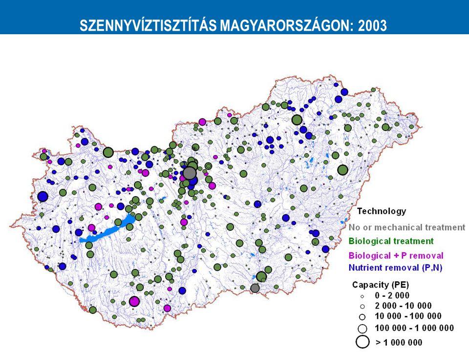 SZENNYVÍZTISZTÍTÁS MAGYARORSZÁGON: 2003