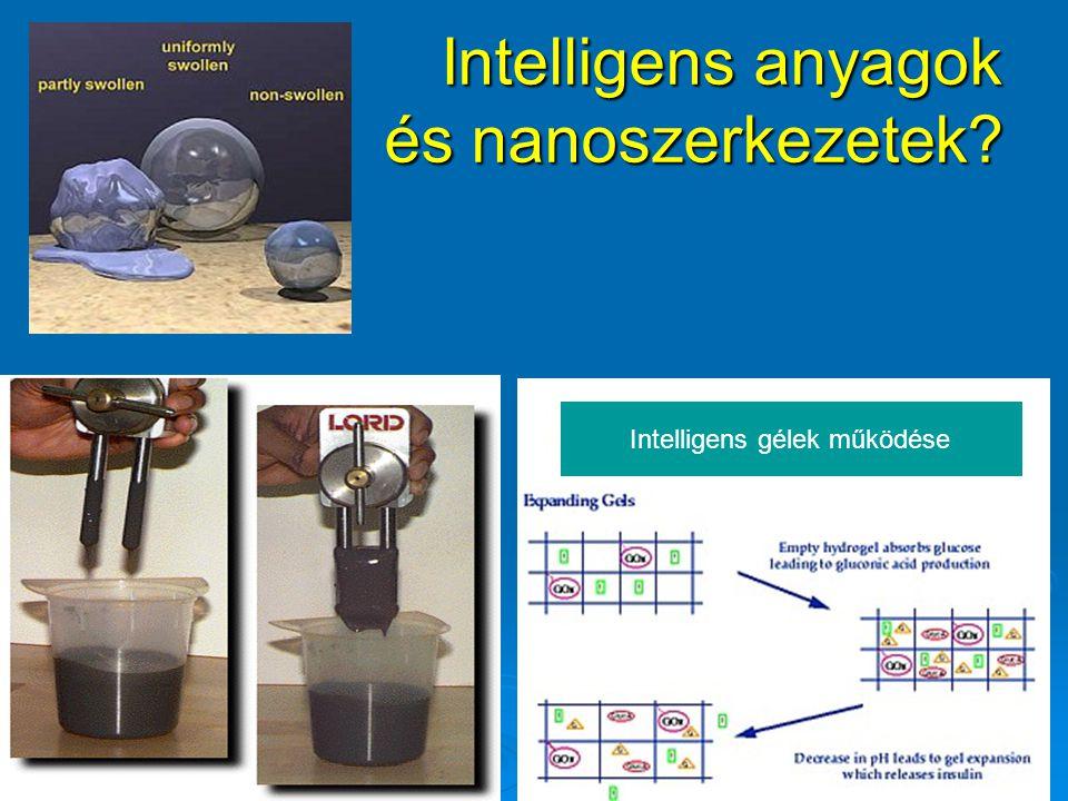 Intelligens anyagok és nanoszerkezetek? Intelligens gélek működése