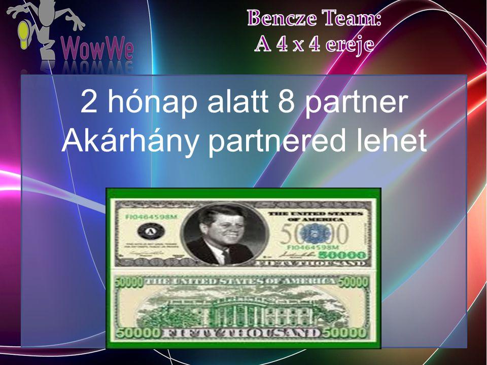 2 hónap alatt 8 partner Akárhány partnered lehet