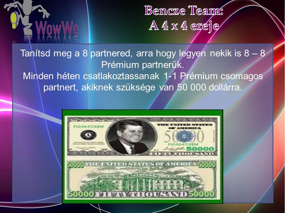 Tanítsd meg a 8 partnered, arra hogy legyen nekik is 8 – 8 Prémium partnerük.