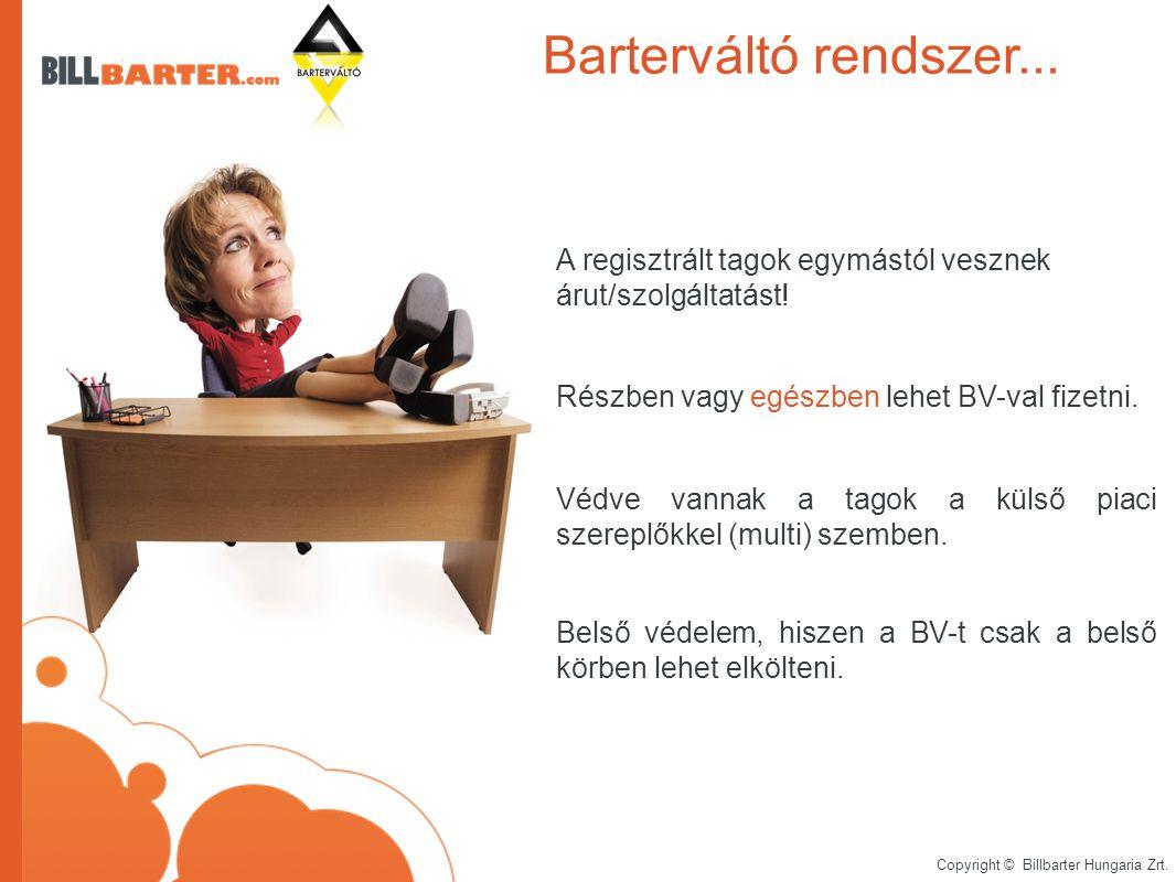 Copyright © Billbarter Hungaria Zrt. A regisztrált tagok egymástól vesznek árut/szolgáltatást.