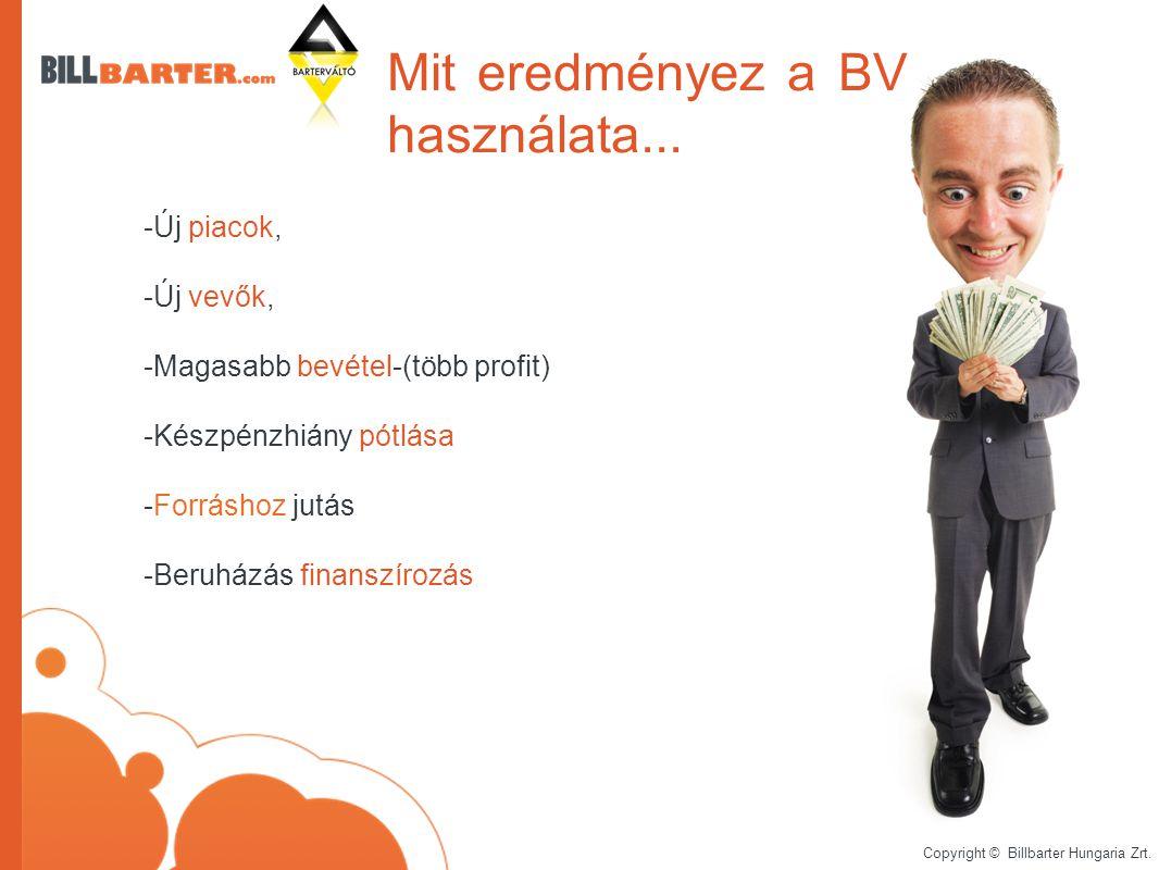 Copyright © Billbarter Hungaria Zrt. Mit eredményez a BV használata...