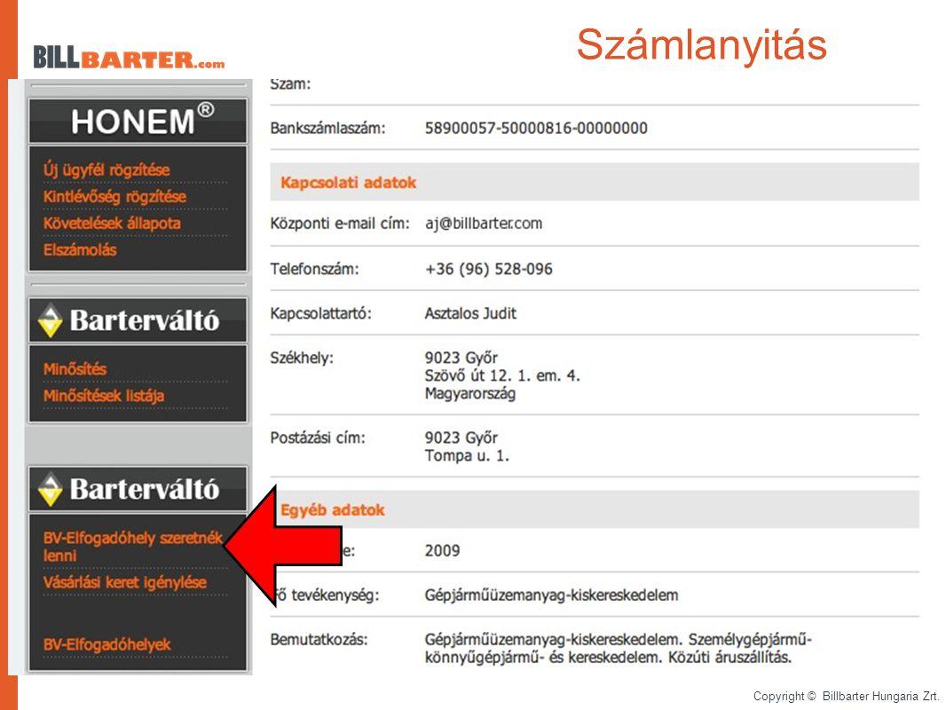 Copyright © Billbarter Hungaria Zrt. Barterváltó rendszer...