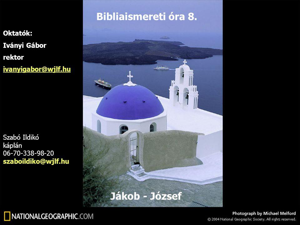 Ábrahám Ismael Ketura fiai Izsák Jákob Ézsau Ruben: Meglátta az Úr az én nyomo- rúságomat (1Móz 29,32) Így nevezi õt anyja.