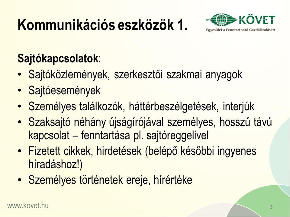 Kommunikációs eszközök 1.
