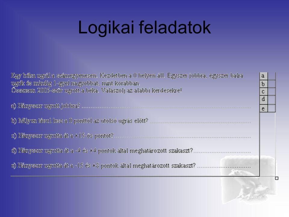 Logikai feladatok