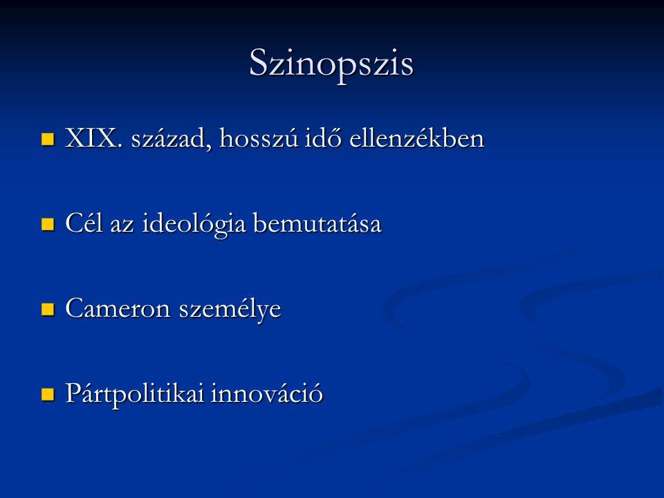 Szinopszis XIX. század, hosszú idő ellenzékben XIX.