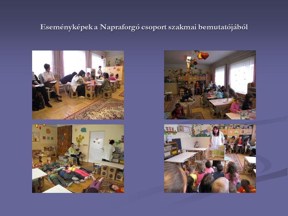 Eseményképek a Napraforgó csoport szakmai bemutatójából