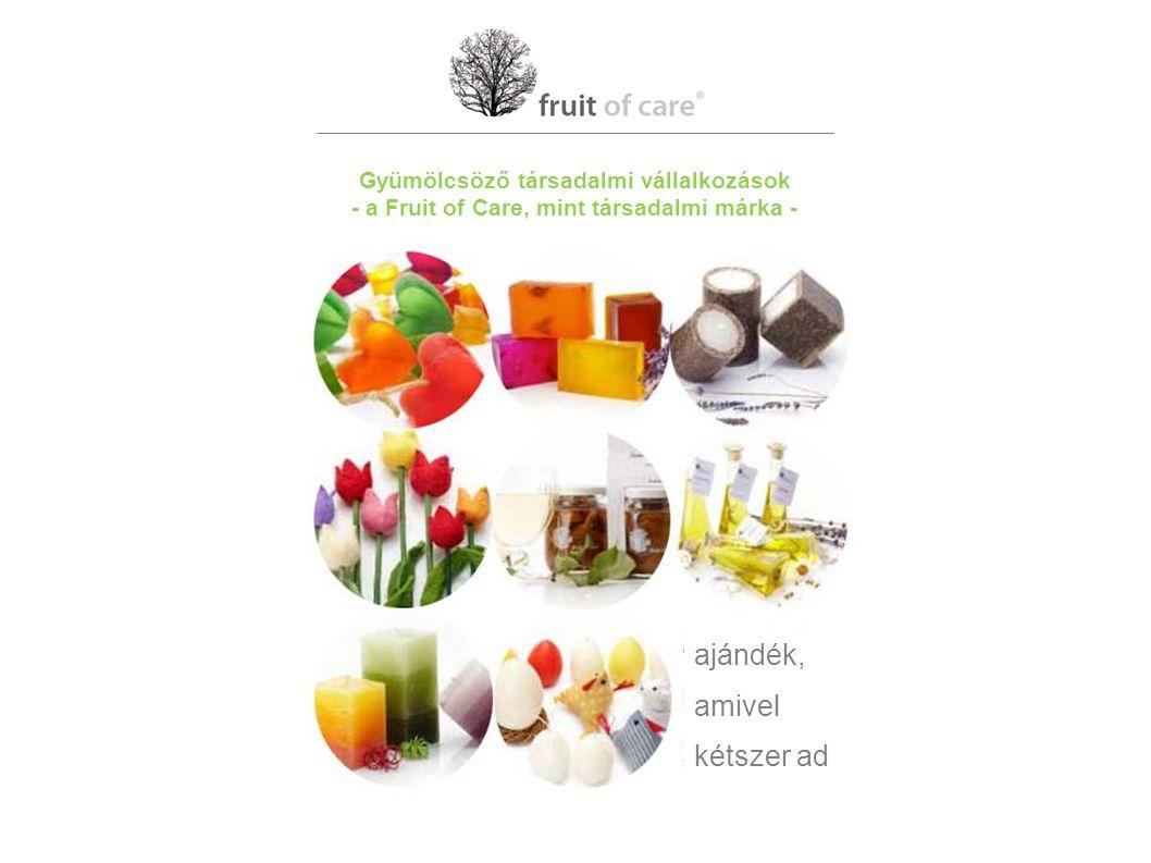 Gyümölcsöző társadalmi vállalkozások - a Fruit of Care, mint társadalmi márka - ajándék, amivel kétszer ad