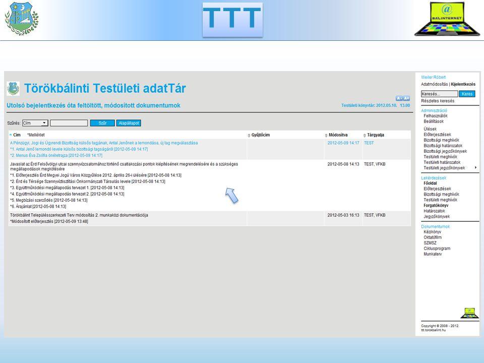 Bizottsági meghívók TTT