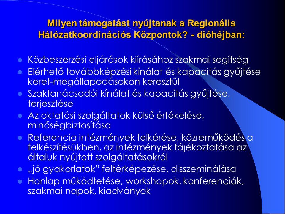 Milyen támogatást nyújtanak a Regionális Hálózatkoordinációs Központok.