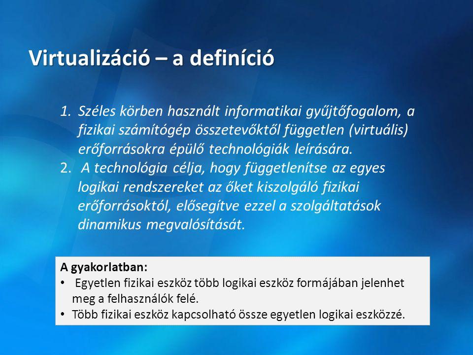 Mit nyerünk a virtualizációval?