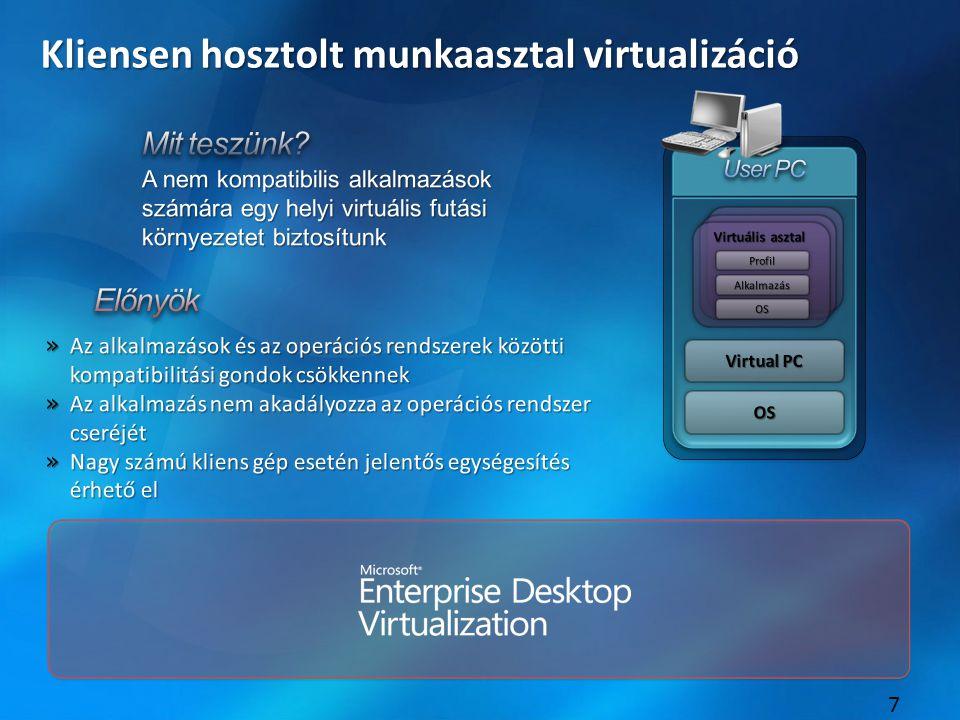8 Megjelenítés virtualizáció (TS) http://www.microsoft.com/hun/technet/article/?id=98e9a46d-8ce6-4089-9540-cdac3d1fefa6