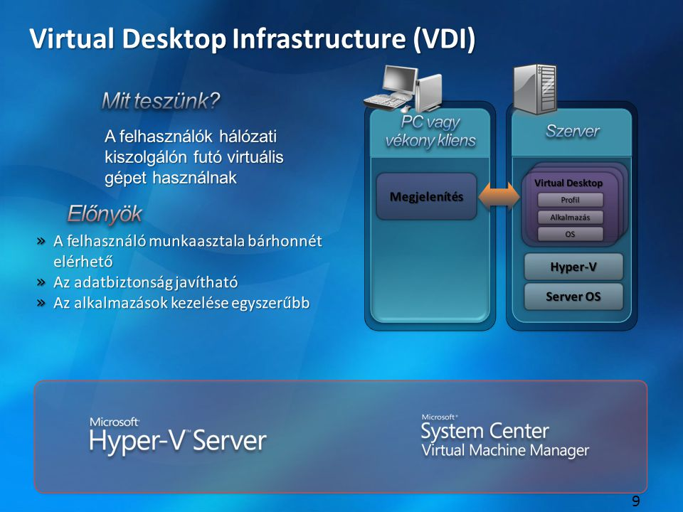 9 Virtual Desktop Infrastructure (VDI)