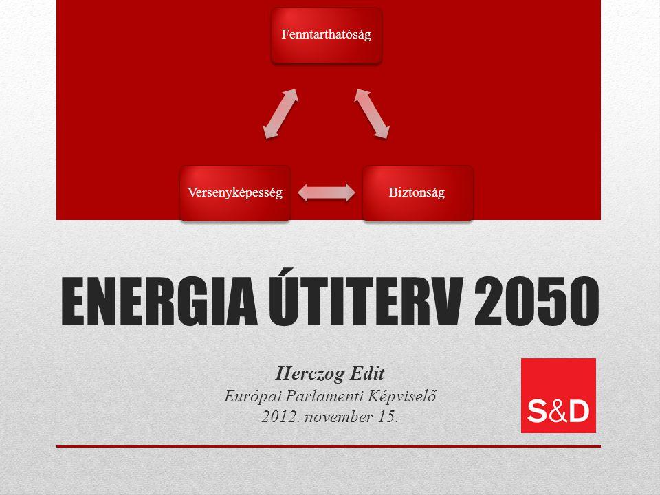 ENERGIA ÚTITERV 2050 Herczog Edit Európai Parlamenti Képviselő 2012.