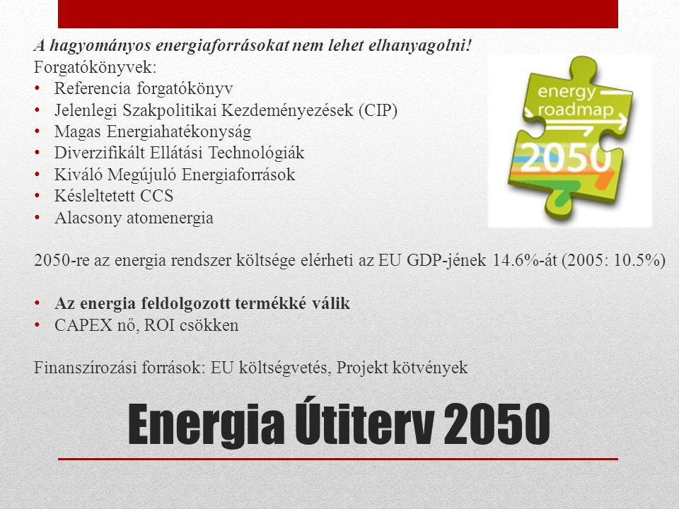 Energia Útiterv 2050 A hagyományos energiaforrásokat nem lehet elhanyagolni.