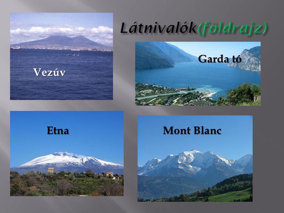 Vezúv Garda tó Etna Mont Blanc