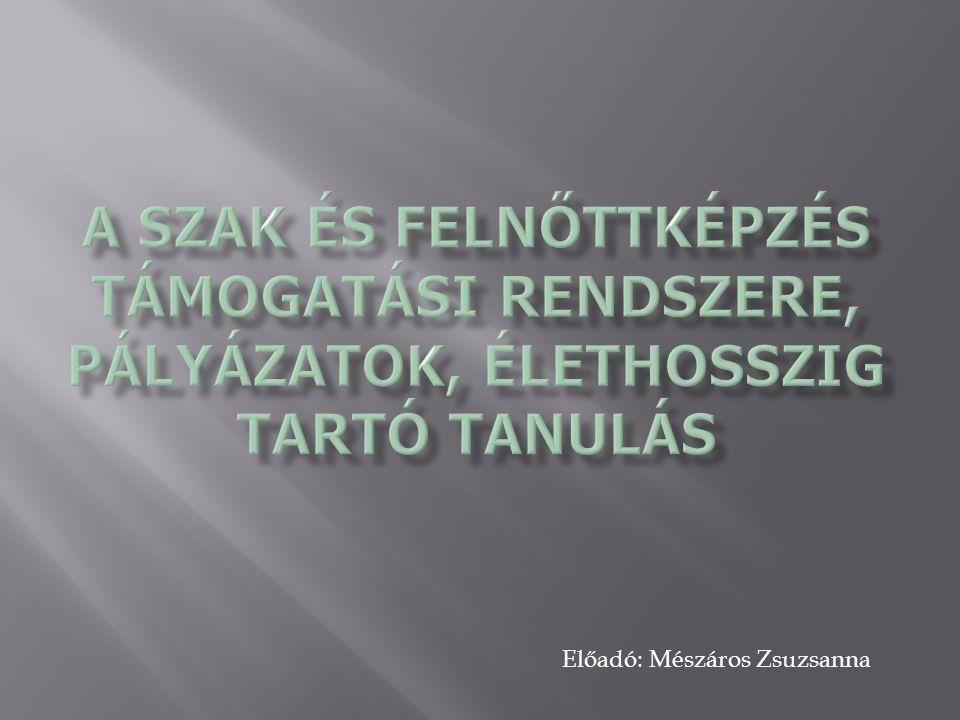 Előadó: Mészáros Zsuzsanna