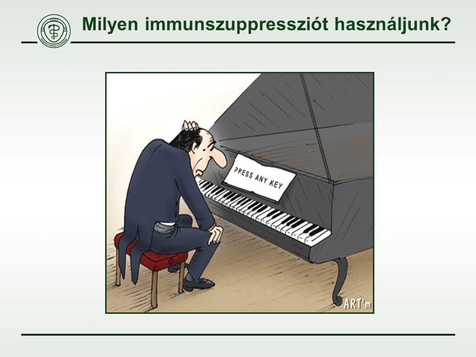 Milyen immunszuppressziót használjunk?