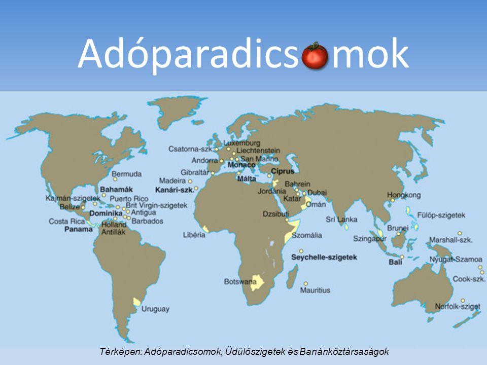 Adóparadics mok Térképen: Adóparadicsomok, Üdülőszigetek és Banánköztársaságok