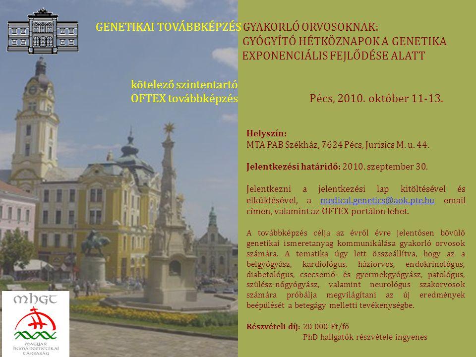 ELŐZETES PROGRAM 2010.október 11.