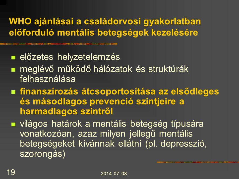 2014.07. 08. 20 WHO ajánlásai, folyt.