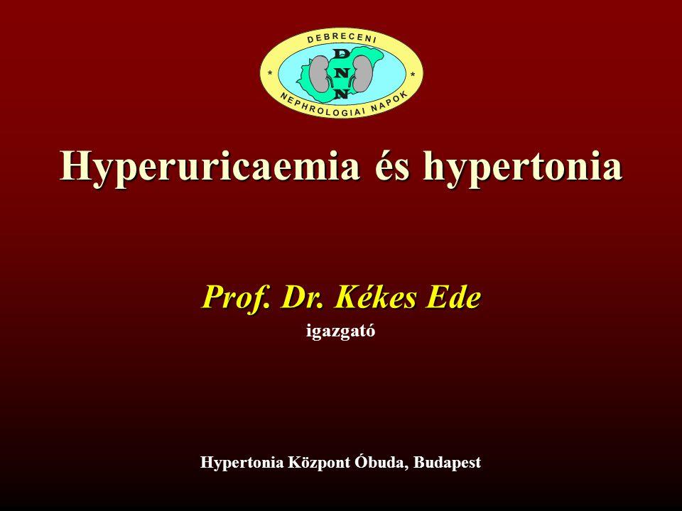 Hyperuricaemia és hypertonia igazgató Prof. Dr. Kékes Ede Hypertonia Központ Óbuda, Budapest