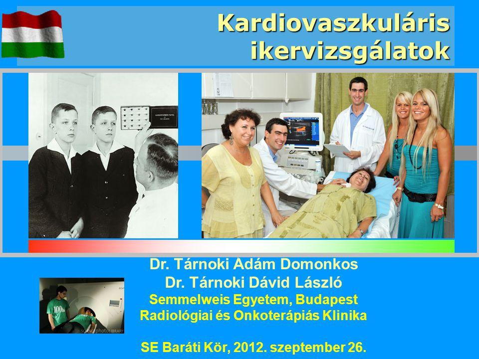 Kardiovaszkuláris ikervizsgálatok Dr. Tárnoki Ádám Domonkos Dr. Tárnoki Dávid László Semmelweis Egyetem, Budapest Radiológiai és Onkoterápiás Klinika