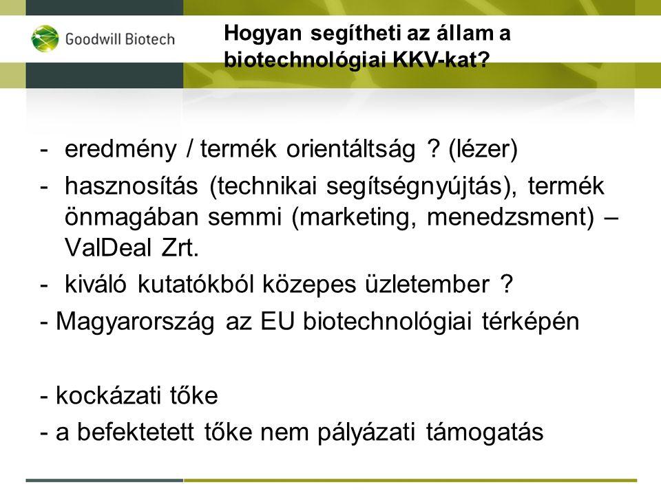 Hogyan segítheti az állam a biotechnológiai KKV-kat.