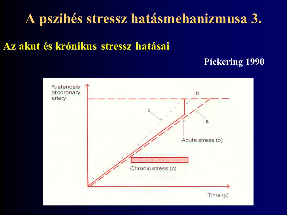 Az akut és krónikus stressz hatásai Pickering 1990 A pszihés stressz hatásmehanizmusa 3.