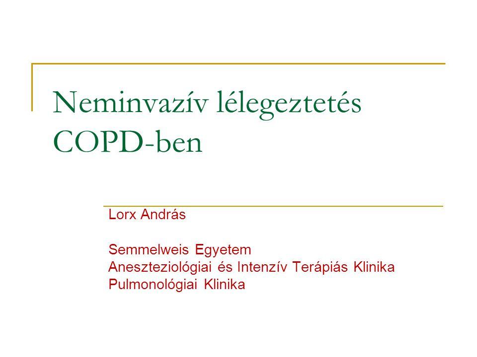 Neminvazív lélegeztetés COPD-ben Lorx András Semmelweis Egyetem Aneszteziológiai és Intenzív Terápiás Klinika Pulmonológiai Klinika