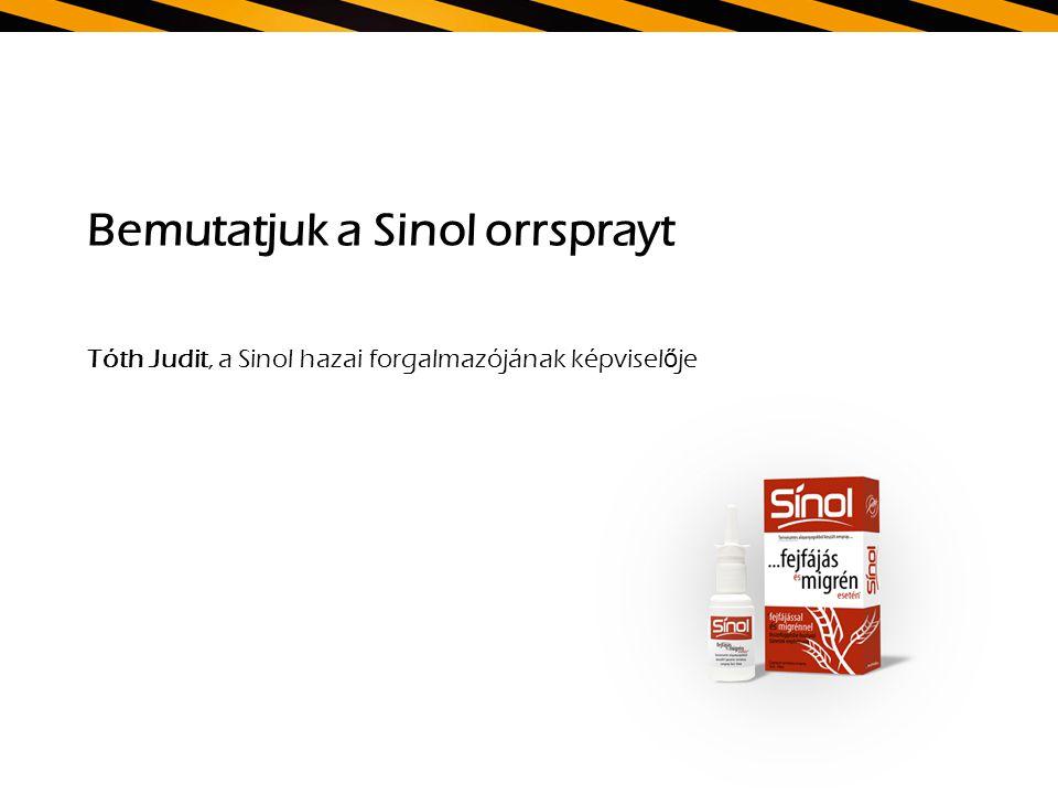 Bemutatjuk a Sinol orrsprayt Tóth Judit, a Sinol hazai forgalmazójának képvisel ő je