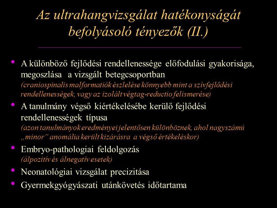Az összes, valamint a prenatalisan felismert és bejelentett hernia diaphragmatica számának és arányának változása Magyarországon 2000-2009 között EUROCAT 2005-2009.