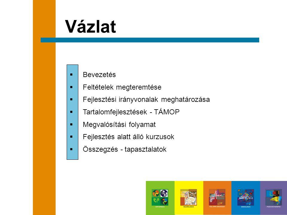 Vázlat  Bevezetés  Feltételek megteremtése  Fejlesztési irányvonalak meghatározása  Tartalomfejlesztések - TÁMOP  Megvalósítási folyamat  Fejles