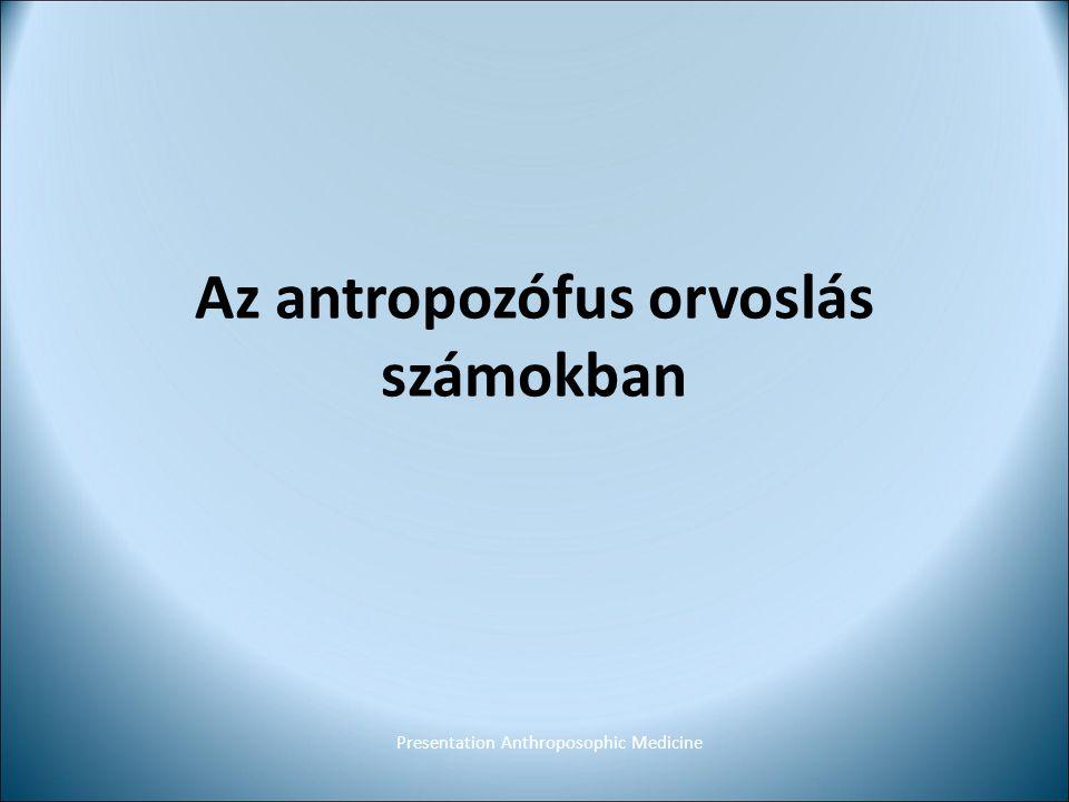 Az antropozófus orvoslás számokban Presentation Anthroposophic Medicine