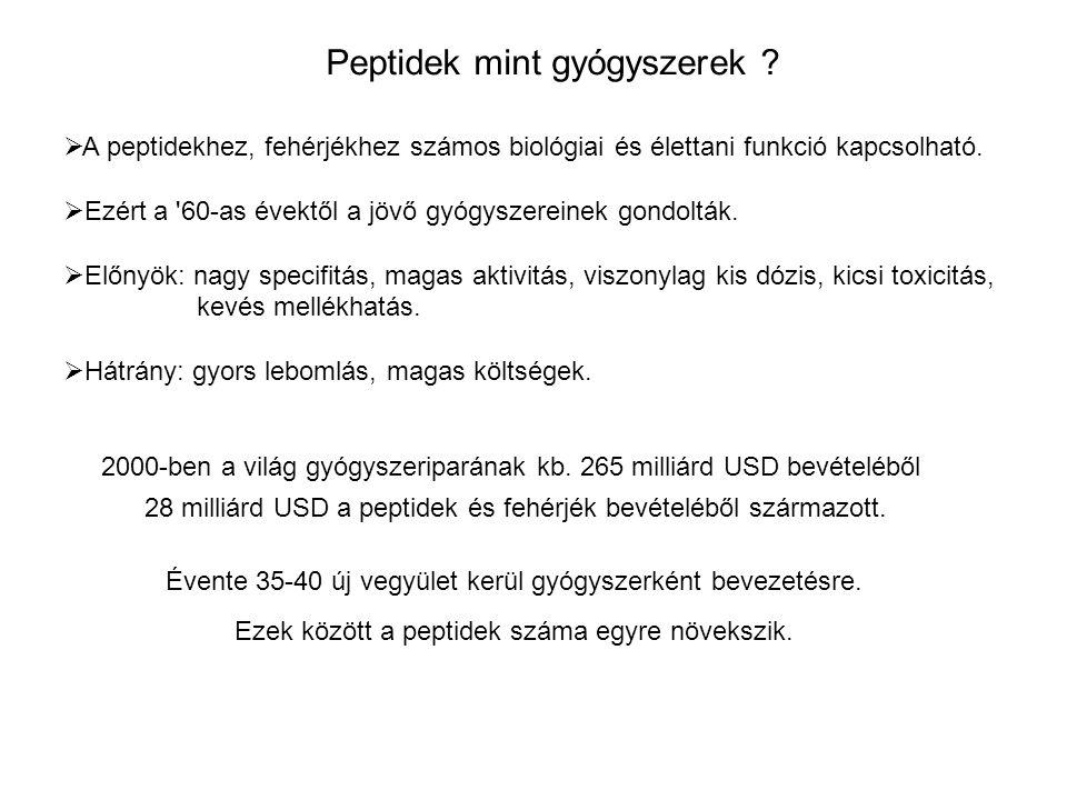 Peptidek mint gyógyszerek .