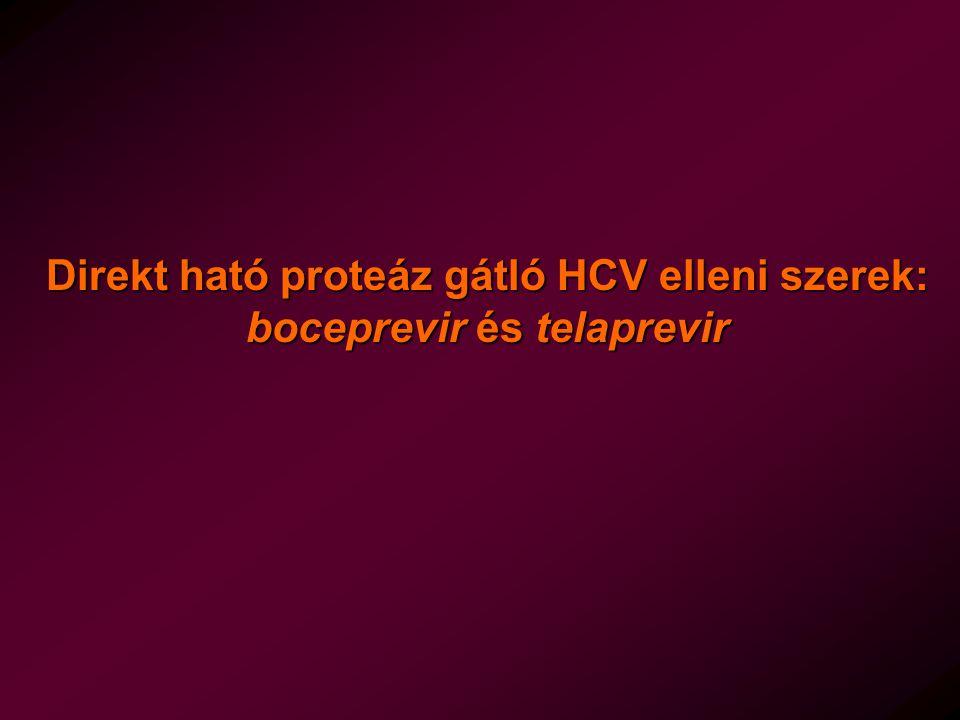 Direkt ható proteáz gátló HCV elleni szerek: boceprevir és telaprevir