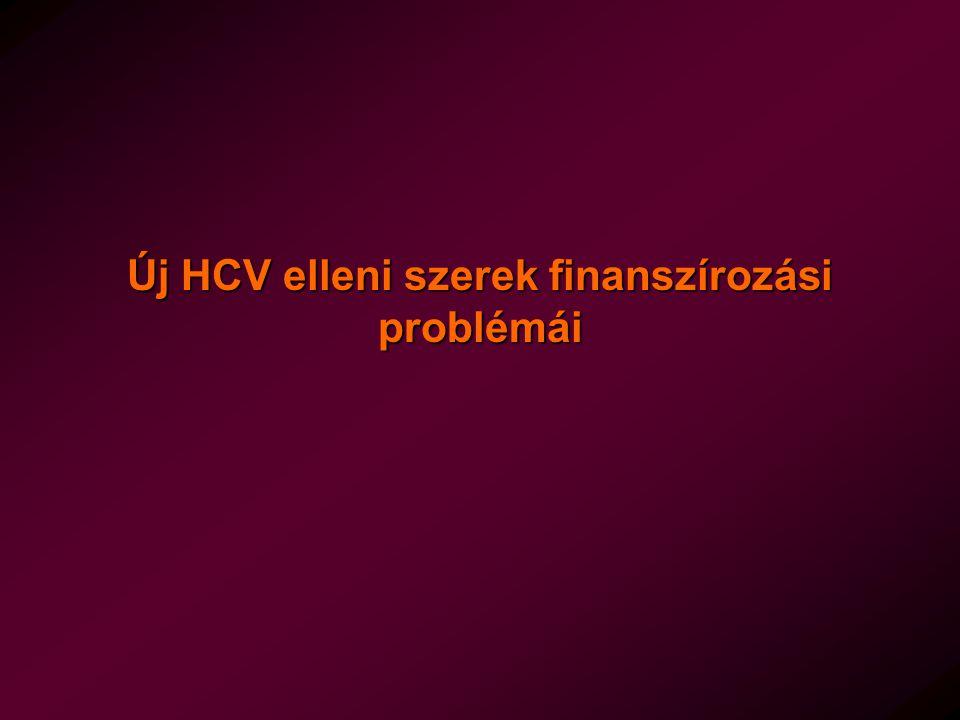 Új HCV elleni szerek finanszírozási problémái