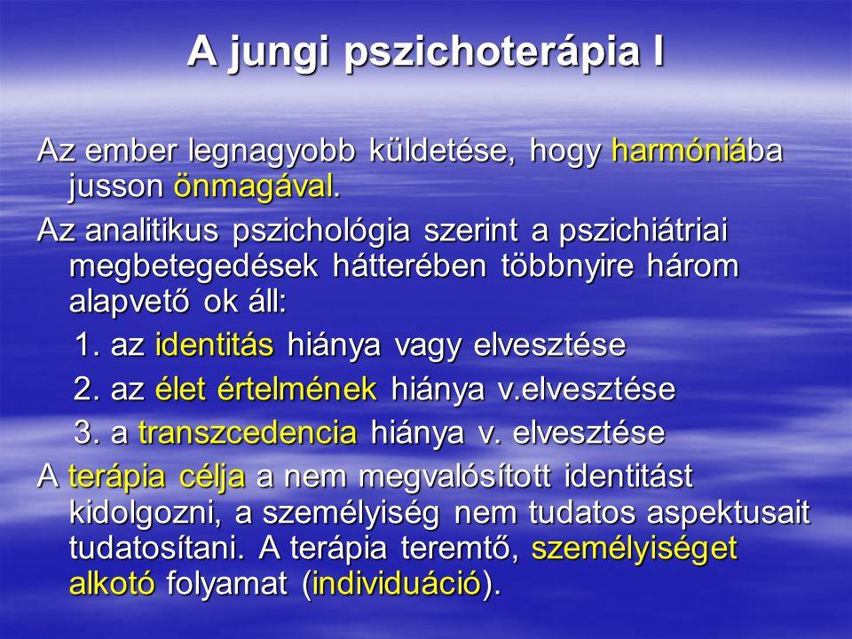 A jungi pszichoterápia I Az ember legnagyobb küldetése, hogy harmóniába jusson önmagával. Az analitikus pszichológia szerint a pszichiátriai megbetege
