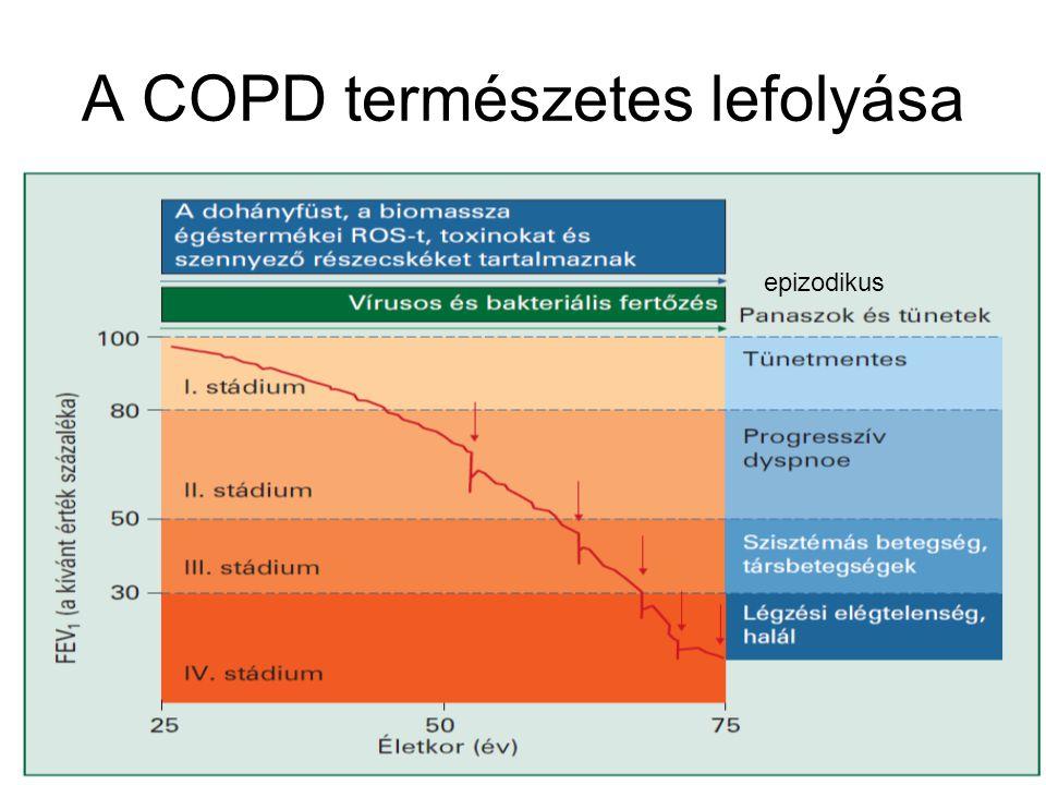 A COPD természetes lefolyása epizodikus